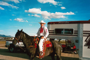 Ely, NV June 9, 2000 - Chad Heaton in Diamond G Rodeos attire