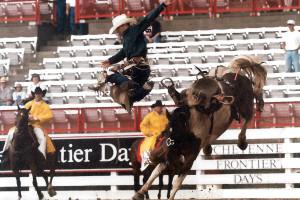 Cheyenne Frontier Days July 27, 2000 - No J90, Chief Crushin' John with John Robbin