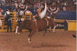 Dec 9, 1995 NFR - 57, Benny's Pride & Lance Crump, 1st Place
