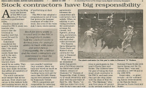 Fiesta Days & Rodeo Stock contractors have big resp 031999