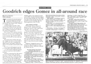 Prorodeo Sports News Goodrich edges San Dimas 1997