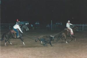 Iron County Fair & Rodeo Parowan, UT Sept  2, 1995 - Steve & Boone (Header); Jess Thomas & Whisk (Heeler)